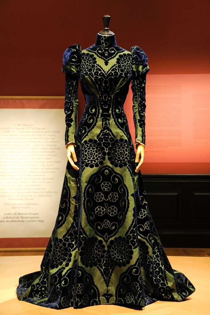 1897 Worth tea gown From wwd.com/fashion-news/fashion-features/gallery/palais-galliera-countess-greyffulhe-exhibit-10274197/#!3/tea-gown-by-worth-circa-1897