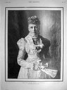 1898 From The Graphic, commemorative portrait of Queen Louise