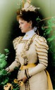 1898 Tsaritsa Alexandra in spotted dress colorized by justine