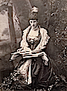 1898 Princess Alexandra seated by Alice Hughes