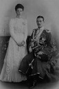 1900-1901 Olga and her brother Mikhail