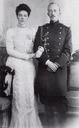 1900-1901 Olga and her first husband Peter of Oldenburg engagement photo