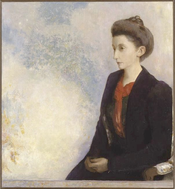 1900 Baronne Robert de Domecy by Odilon Redon (Musée d'Orsay - Paris France) Photo - Hervé Lewandowski