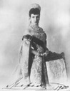 1900 Maria in court dress with signature