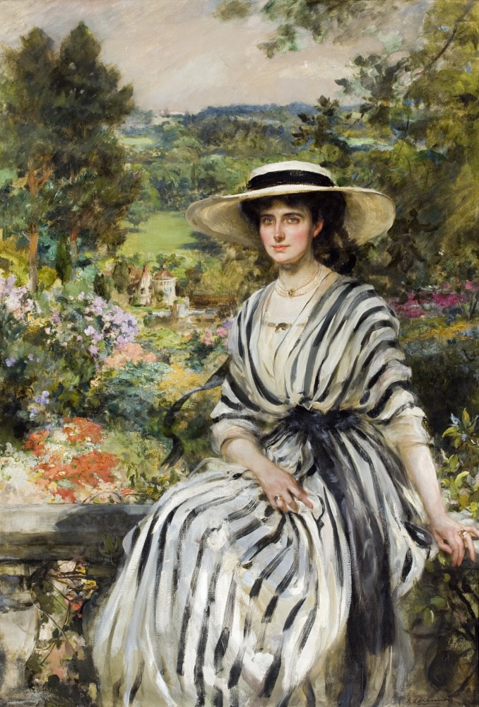 1900 or later Rosamund Hussey, née Anstruther, by James Jebusa Shannon (Scotney Castle - near Lamberhurst, Kent, UK) From nttreasurehunt.wordpress.com:page:8: