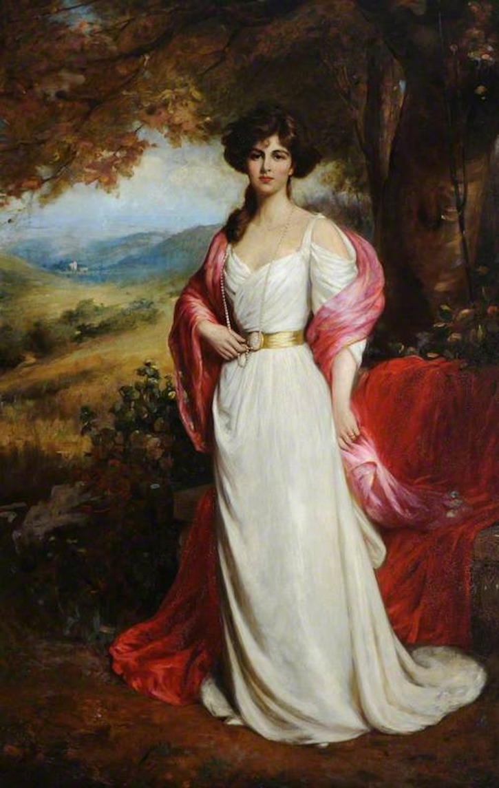 1900 The Honourable Enid Edith Wilson (1878–1957), Countess of Chesterfield by Ellis William Roberts (Beningbrough Hall- Beningbrough, York, North Yorkshire UK) bbc.co