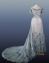 1900s Alexandra's white and silver evening dress