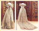 1901 Queen Wilhelmina's wedding dress side and back