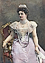 1901 (published) Margherita wearing Savoy knot tiara probably by Giacomo Brogi