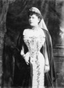1902 Countess Torbey wearing court dress with a long robe From the lost gallery's photostream on flickr