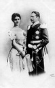 1902 or 1903 Grand engagement card for Duke of Sachsen-Weimar Eisenach and Princess Karoline Reuss