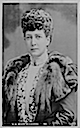 1902 Alexandra wearing coat with fur lapels by Lafayette