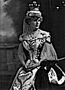 1902 Countess Clancarty, Isabel Maude Penrice, Countess Clancarty, née Bilton (stage name Belle Bilton) at coronation of Edward VII by Lafayette Photographic Studio