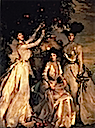 1902 Ladies Alexandra, Mary, and Theo Acheson by John Singer Sargent (private collection)
