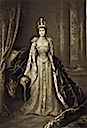 1902 Queen Alexandra wearing coronation dress
