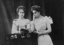 "1903 or earlier Princesses and sisters Beatrice ""Baby Bee"" and Victoria Melita of Saxe-Coburg and Gotha"