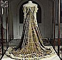 1903 Lady Curzon peacock gown from the back