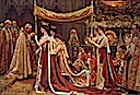 1902 The Anointing of Queen Alexandra at the Coronation of Edward VII by Laurits Tuxen (Royal Collection)
