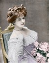 1904 Colorized photo ot Lucile From wwd.com:fashion-news:designer-luxury:gallery:looks-from-the-exhibit-on-famed-designer-lucile-lady-duff-gordon-10448992: trimmed