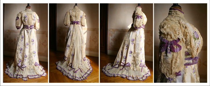 1904 dress with pouter pigeon bodice From whattheywore.tumblr.com