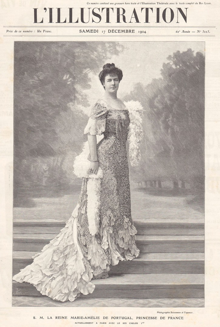 1904 Magazine Print Marie Amelie Queen Consort of Portugal Princess of Orleans EB