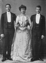 1904 Princess Marie with Prince Aage and Prince Axel