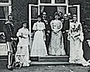 1904 Prince (later King) Christian, Princess (later Queen) Alexandrine, Princess Thyra, Christian IX, Princess Marie (Maria Georgievna), Prince Harald, Prince Hans, Crown Prince (later King) Frederik, Crown Princess Louise (later Queen, Aunt Swan)