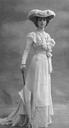 1905 Baroness Olga de Meyer (in white with parasol) by Adolf de Meyer