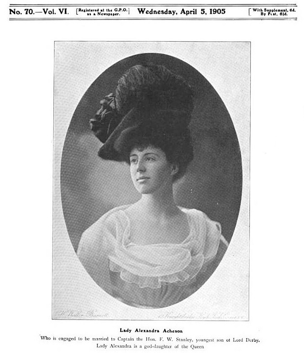 1905 Lady Alexandra Acheson from The Bystander of 5 April 1905