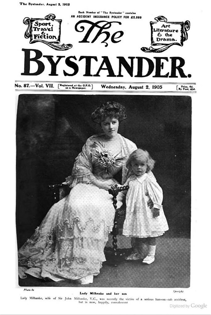 1905 Lady Milbanke from The Bystander of 2 August 1905
