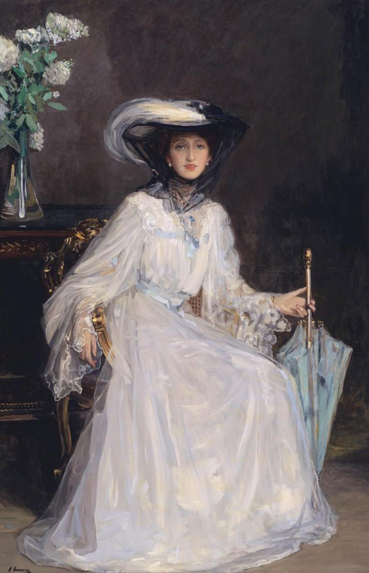 1907 Lady Evelyn Farquhar by Sir John Lavery (auctioned by Sotheby's) From www.the-athenaeum.org:art:full.php?ID=64319