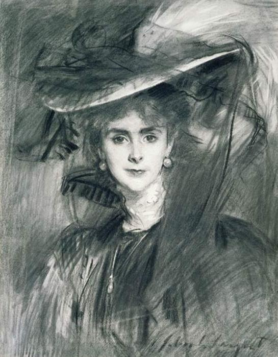 1907 Baroness de Meyer by John Singer Sargent (Birmingham Museum and Art Gallery - Chamberlain Square, Birmingham UK)