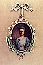 1907 Zenaida painted in a minature portrait by Vasily Zuyev