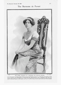 1908 Baroness De Forest Ethel Gerard:de Bendern 22 December 1908 The Bystander eBay despot deprint