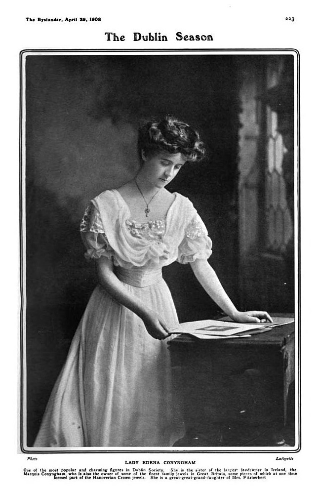 1908 Lady Edina Dorothy Hope Conyngham from The Bystander of 29 April 1908
