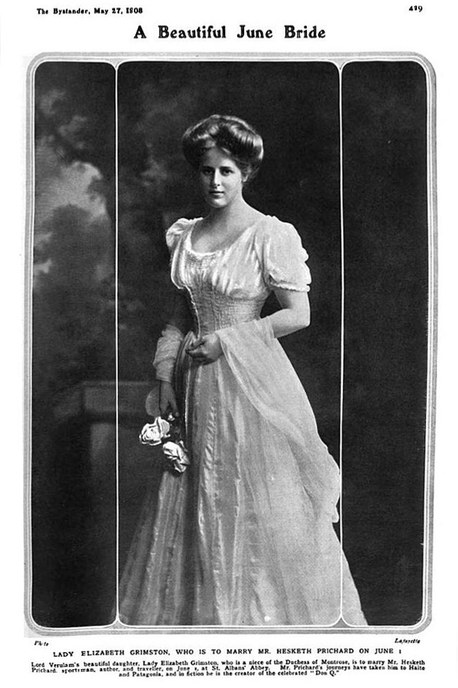 1908 Lady Elizabeth Grimston from The Bystander of 17 May