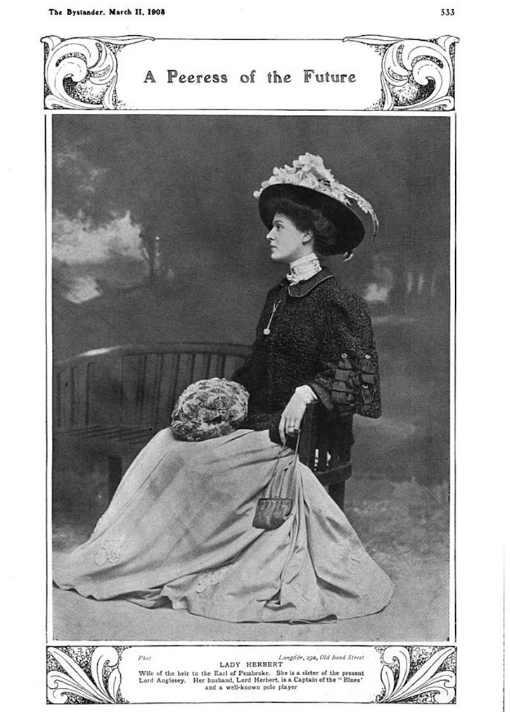 1908 Lady Herbert from The Bystander of 11 March