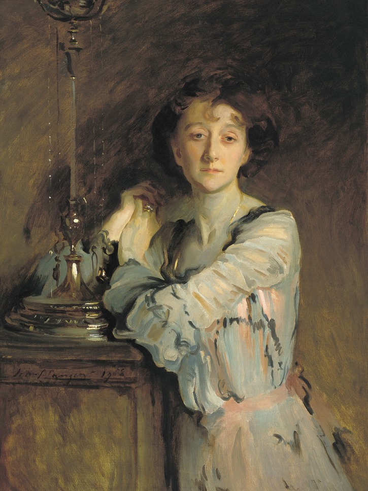 1908 The Honorable Mrs Charles Russell, née Adah Williams by John Singer Sargent (Thyssen-Bornemisza Museum - Madrid Spain) Wm
