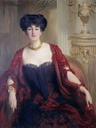 1909 Alda Weston, Lady Hoare wearing a dark bodice by St George Hare (Stourhead - Stourton, Wiltshire UK)