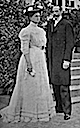 1909 (28 April) Princess Helena Adelaide of Schleswig-Holstein-Sonderburg-Glücksburg and Prince Harald Christian of Denmark