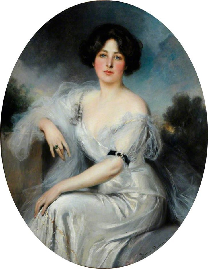 1910 Lady Duveen, née Salamon by François Flameng (Ferens Art Gallery - Kingston upon Hull, East Riding of Yorkshire, UK) From bbc.co