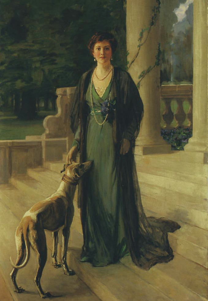 1910 Baroness Gerda von Chappuis (Mrs F. A. Konig) by Sir John Lavery (auctioned by Christie's) From The Athenaeum cropped