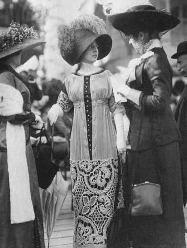 1911 (June) Buckingham Palace Garden Party From pinterest.com:laurencedenies:robe-1912: enlarged one third trimmed