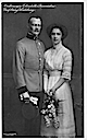 1912 Archduchess Elisabeth Franziska and Count Georg of Waldburg by Carl Pietzner Wm detint purplish tone
