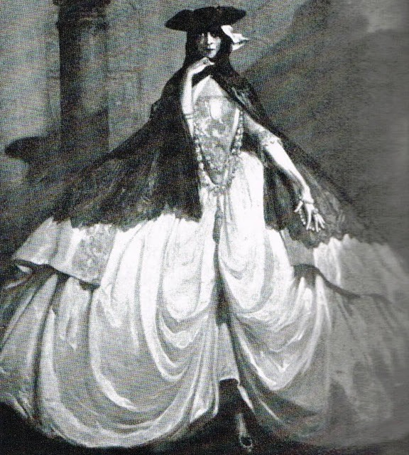 1913 Luisa in her costume for the Grande Ballo Pietro Longhi by G. de Blaas From rocaille.it/infiniti-auguri-alla-nomade-luisa-casati/.jpg