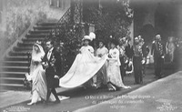 1913 Wedding of Princess Augusta Vitória Hohenzollern Sigmaringen and King Manuel II of Portugal from fyms.de detint
