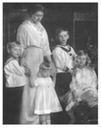 1914 (based on ages of children) Duchess Viktoria Adelheid, wife of Duke Carl Eduard of Saxe-Coburg & Gotha, with her children Hereditary Prince Johann Leopold, Princess Sibylla, Prince Hubertus and Princess Caroline Mathilde
