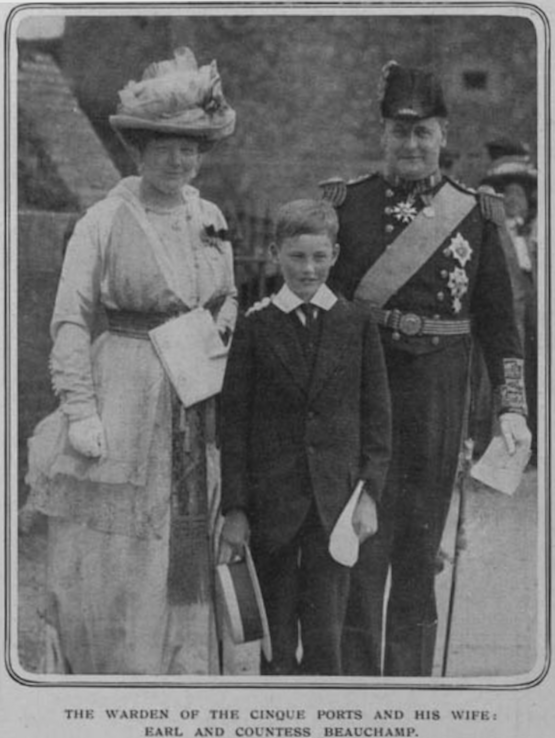 1914 Lord Beauchamp and Lady Beauchamp, née Lettice Grosvenor, ILN From illustratedfirstworldwar.com-item-our-note-book-iln0-1914-0725-0005-001-#