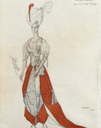 1914 Oriental costume design for a fancy-dress ball for Princess Olga Constantinovna Orlov by Lev (Leon) Samoilovich Bakst (auctioned by Bonhams)