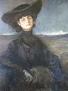 1914 Portrait d'Anna-Elisabeth, comtesse de Noailles by Jean-Louis Forain (location unknown to gogm)